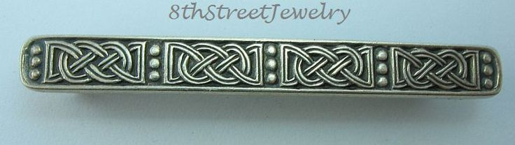 Estate Sterling Silver 925 David Andersen Norway SAGA Series Celtic Knot Tie Bar #DavidAndersen
