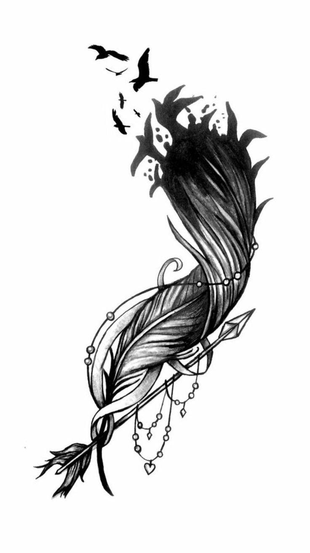 tattoo feder mit vögel #FeatherTattooIdeas
