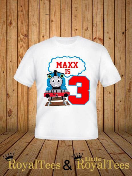 Thomas el tren cumpleaños camiseta por customroyaltees en Etsy                                                                                                                                                                                 Más