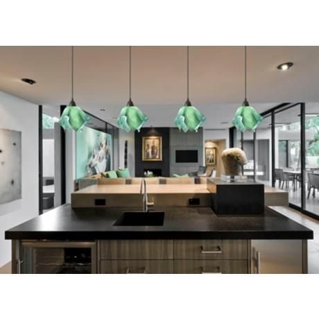 Best 22 green pendant lights ideas on pinterest hanging lamps jezebel radiance seafoam green small flame pendant light pendantlight lighting http aloadofball Image collections