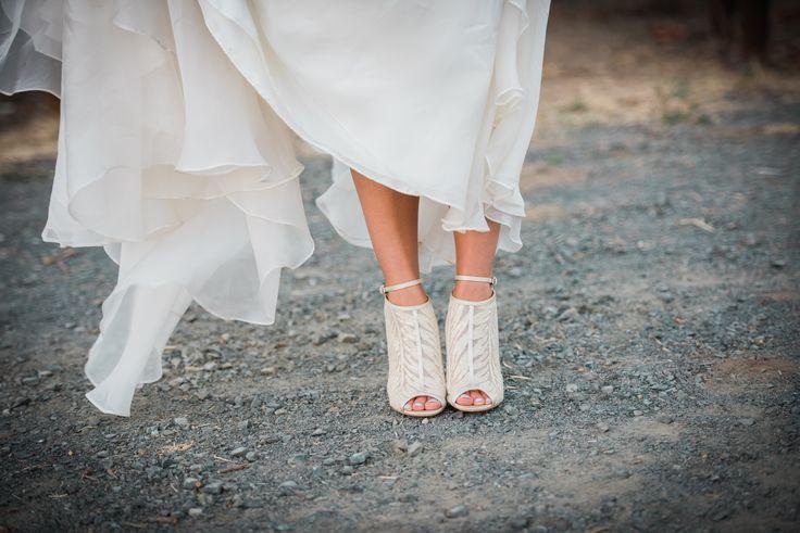 Bridal footwear for a Napa Valley wedding.