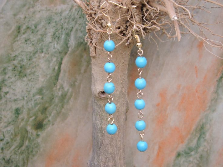 Find More Drop Earrings Information about Turquoise jewelry, turquoise earrings, light blue earrings, turquoise stone earrings, girlfriend gifts, bridesmaid gifts,High Quality earring jewelry making,China jewelry plus Suppliers, Cheap jewelry case from City lovers Liu Yanxia on Aliexpress.com