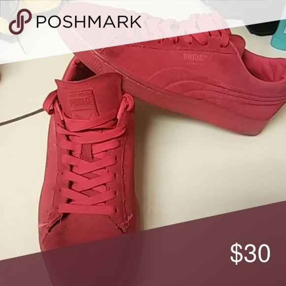 Puma suede Red puma suede Puma Shoes