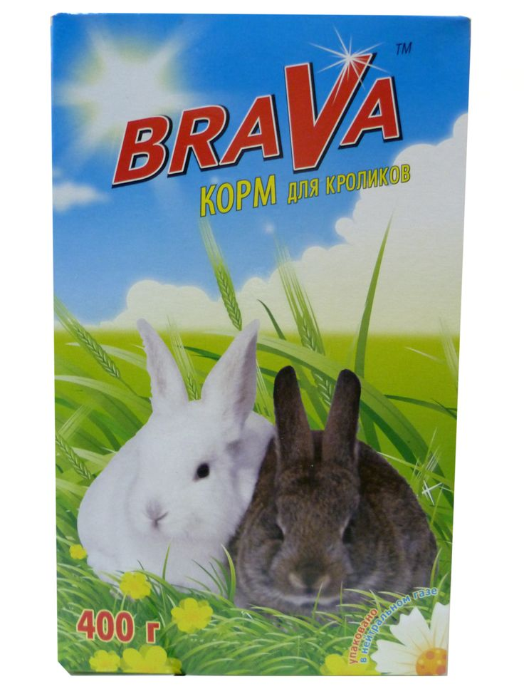 Корм для кроликов Brava, 400 г