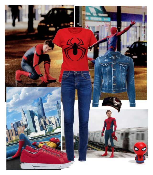 """Spider outfit 😅"" by kenessyzap ❤ liked on Polyvore featuring art, MyStyle, marvel, spiderman, myrules and outfitCool"