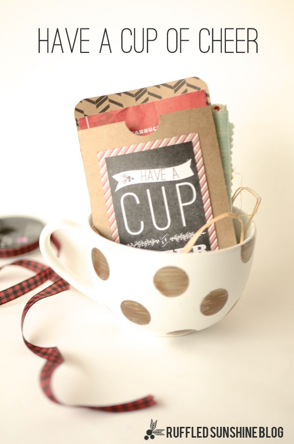 cup of cheer gift idea christmas free frugal cheap neighbor