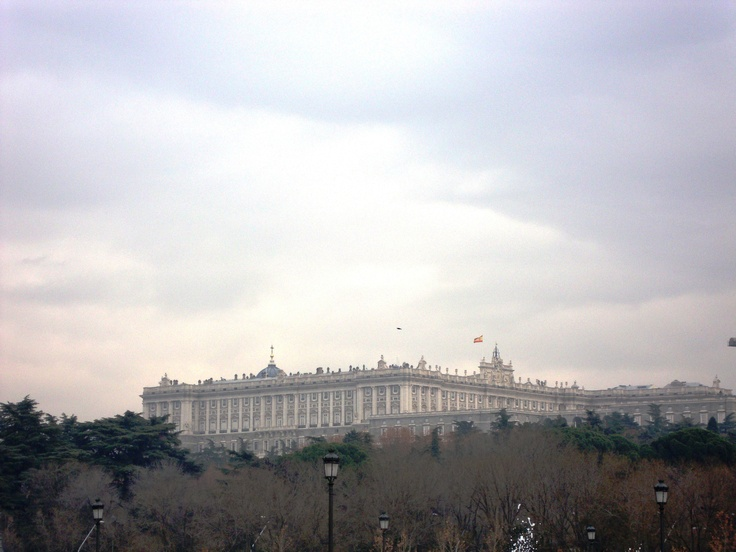 Vista del palacio Real desde Madrid Rio