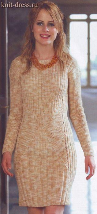 Платье вязаное в полоску
