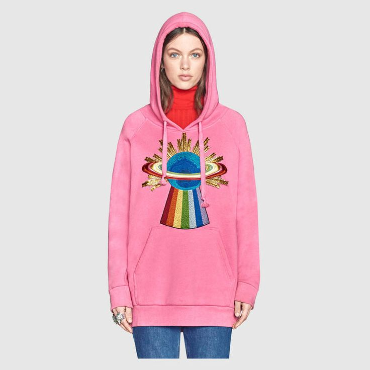Gucci Embroidered hooded sweatshirt  Detail 3