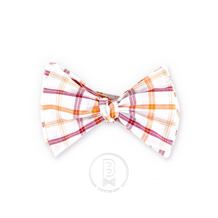 Orange Tartan Bow Tie - BlowTies