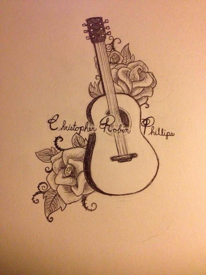 Guitar and roses