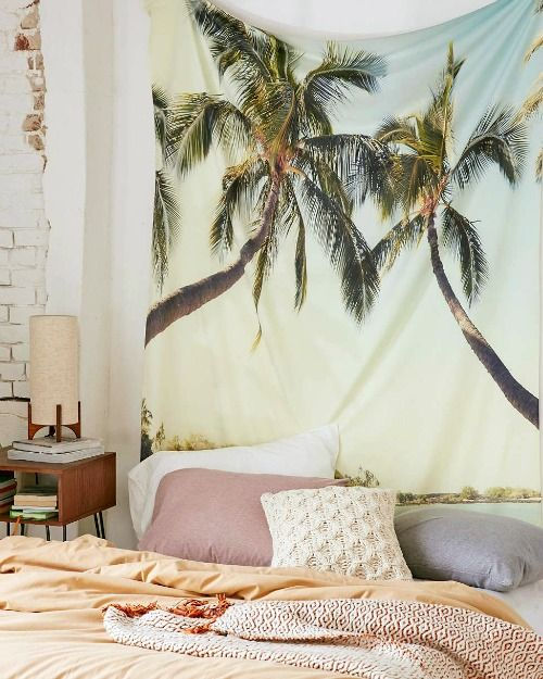 Palm Trees Tapestry Wall Hanging: http://www.completely-coastal.com/2016/01/tropical-palm-decor-accessories.html