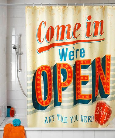 Another great find on #zulily! Vintage 'Open' Anti-Mold Shower Curtain #zulilyfinds