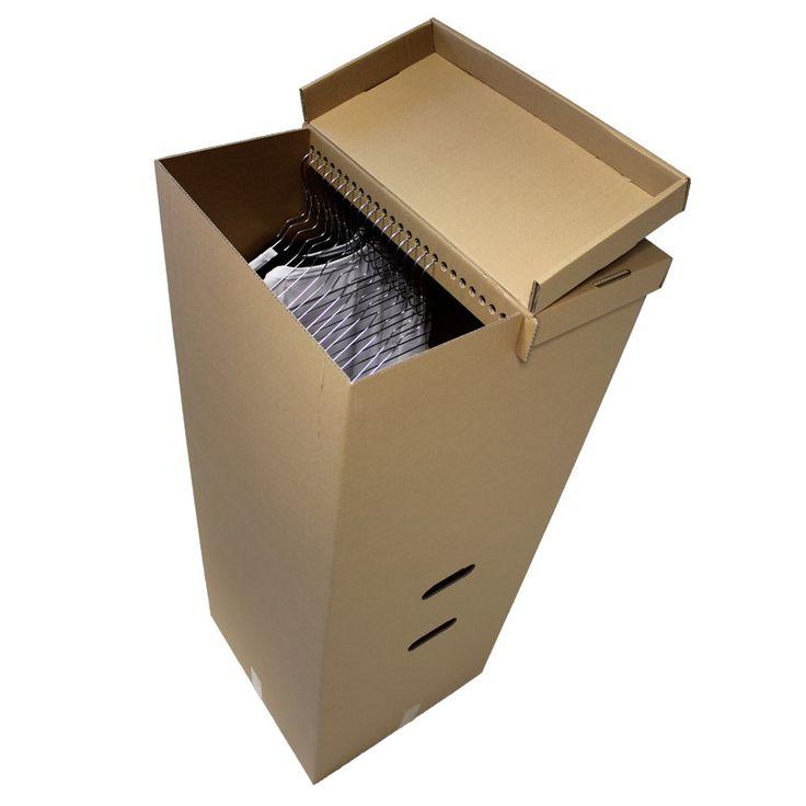 Компания Tomove предлагает оригинальную упаковку для перевозки одежды, это шкаф из гофрокартона в котором вместо перекладины для вешалок с одеждой используется конструкция крышки в которой ребро жесткости снабжено отверстиями для крючков вешалок. Такая конструкция шкафа позволяет сохранить одежду при перевозке не помятой и не сбившейся на одну сторону коробки (коробка всегда сохраняет равновесие и не опрокидывается).  Для удобства переноски в боковых стенках шкафа прорезаны две пары ручек на…