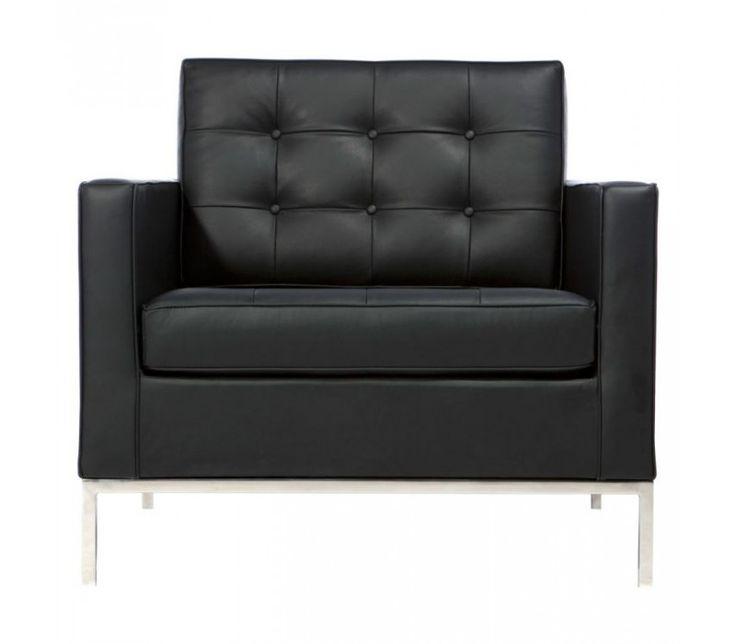 Fotel Firenze - skóra projekt inspirowany Florence Armchair. - Fotele i szezlągi - Meble, dekoracje, oświetlenie Biokominki,Grille ogrodowe,Drzwi, Podłogi,Meble,Dekoracje