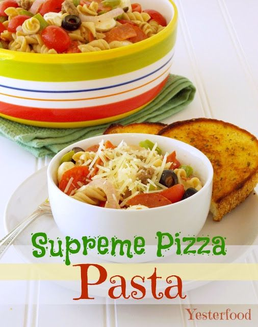 Yesterfood : Supreme Pizza Pasta