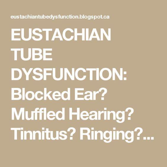 Blocked Eustachian Tube Ringing
