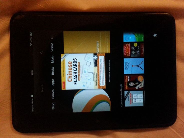 "Amazon Kindle Fire HD 2nd Generation 7"" Tablet WiFi 16GB - Black"