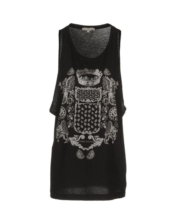 PIERRE BALMAIN T-shirt sans manches >> Yoox