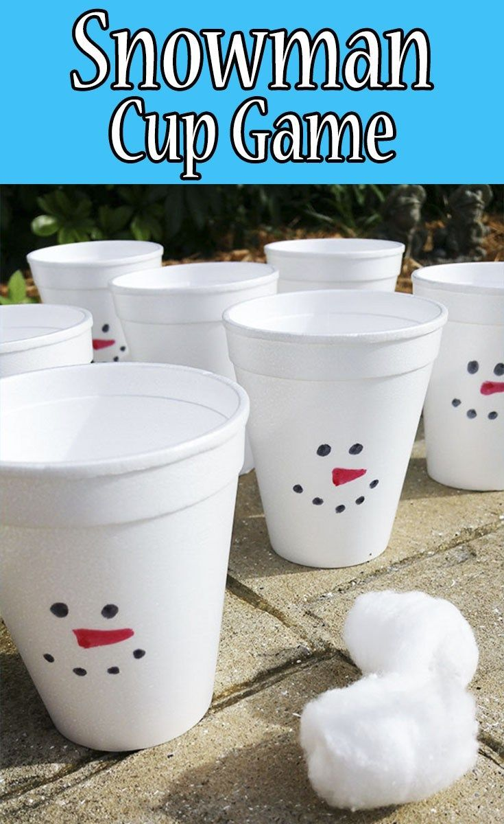 Snowman cup game plays the o 39 jays and the kid for Cup snowman