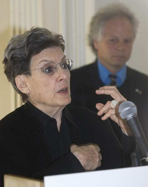 Dinu Bumbaru, policy director of Heritage Montreal, shown with Phyllis Lambert in 2009, said Lambert has left an indelible mark on Montreal.