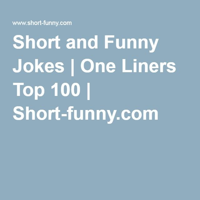 Short and Funny Jokes - Vitsar, skämt och mer eller mindre roliga historier på engelska.