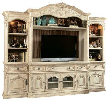American Drew Jessica McClintock Boutique Entertainment Center in White traditional-media-storage