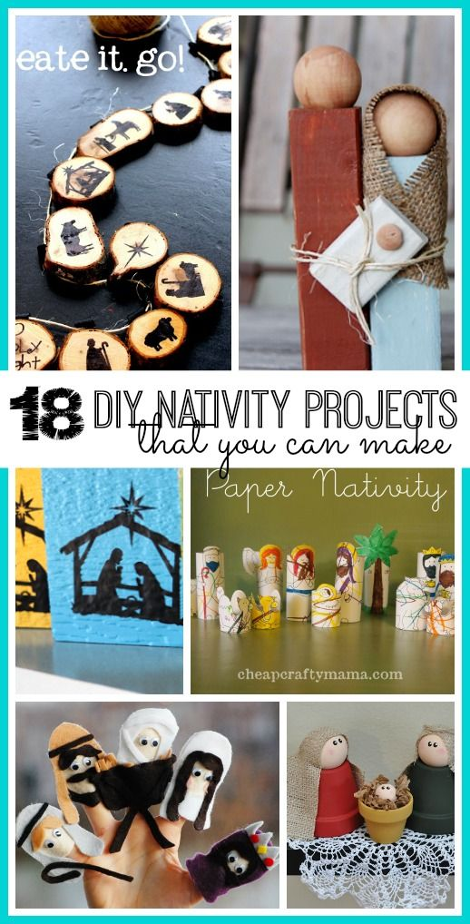 18 DIY Nativity Projects - you can make these - great Christmas Craft idea, and would make great gifts- Sugar Bee Crafts
