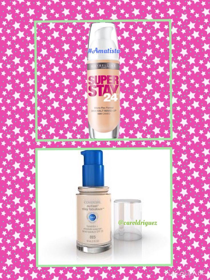 Bases de maquillaje  Súper Stay 24 Hrs de Maybelline  Covergirl 850