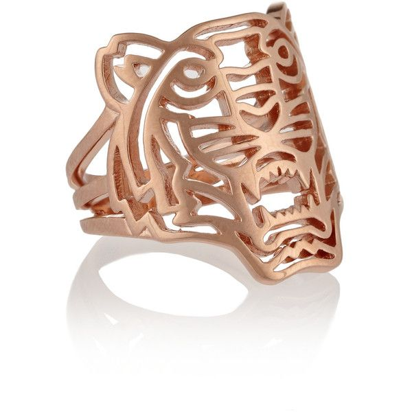 KENZO Tiger rose gold-plated ring found on Polyvore