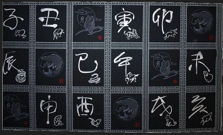Distinctive Sewing Supplies - Wagara Chinese Zodiac Cotton Print Panel - Black , $8.00 (http://www.distinctivesewing.com/wagara-chinese-zodiac-cotton-print-panel-black/)