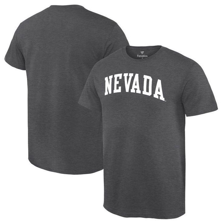 Nevada Wolf Pack Fanatics Branded Basic Arch Expansion T-Shirt - Charcoal