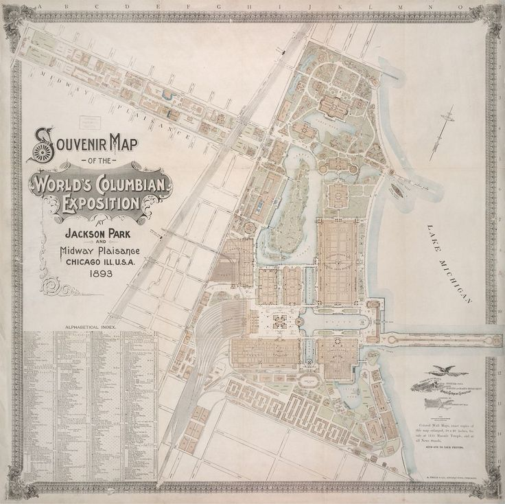 Souvenir map of World's Columbian Exposition in Chicago, 1893