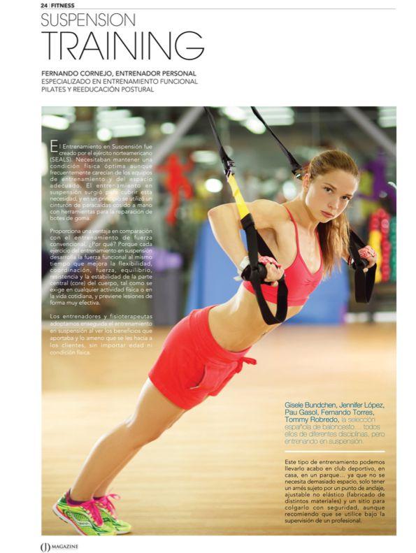 Lo último en fitness: Suspension Training. Usas el peso de tu propio cuerpo para fortalecer y tonificar los músculos. Gisele Bundchen, Jennifer López, Pau Gasol apuestan por el entrenamiento en suspensión #fitness #ejercicios #cuerpo #salud #músculo #belleza #artículo #revista