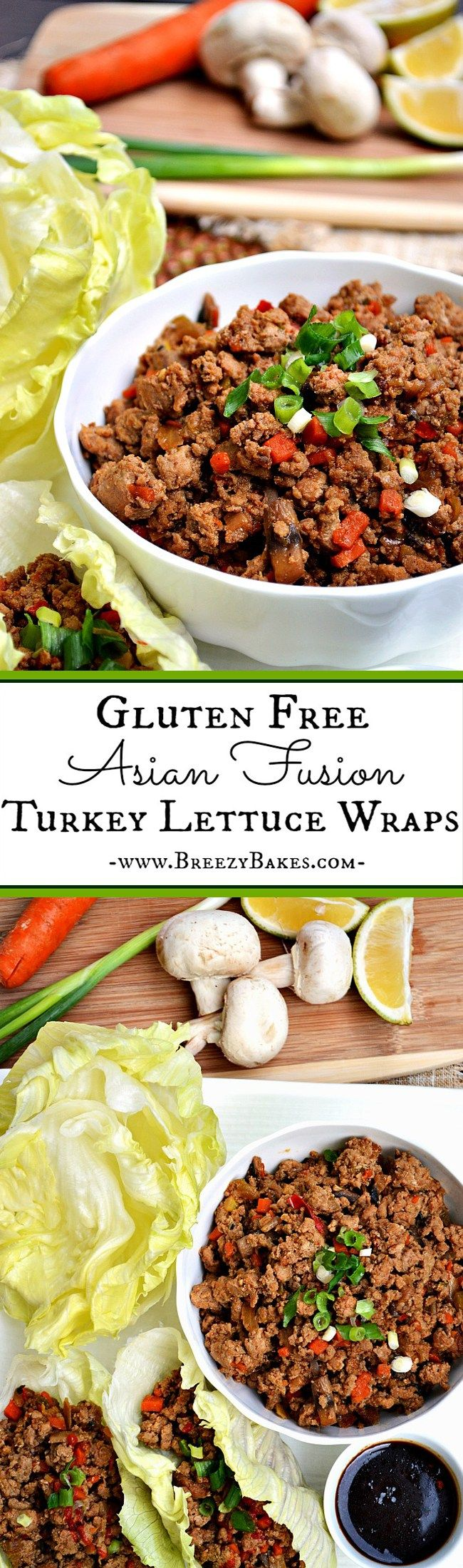 For an easy Asian fusion dinner or appetizer, throw together these simply easy and simply tasty Gluten Free Turkey Lettuce Wraps.
