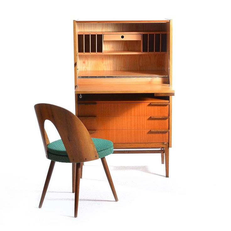 It is not easy to fit a work space into a home. This work station seems ideal for it! Created in the 60´s by designer František Mezulaník. Very good, original condition with onl