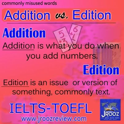 Addition vs Edition and Other Words that Are Misused By Most People
