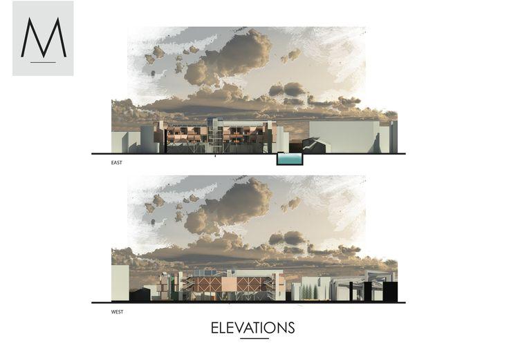 Elevation Plan Presentation : Architecture collective dwelling masterplan revit