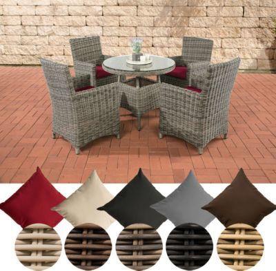 Polyrattan Sitzgruppe CASOLI, grau-meliert (4 Stühle mit Tisch 90 x 90 cm) INKL. bequemen Sitzkissen, Premiumqualität: 5 mm Rund-Rattan Jetzt bestellen unter: https://moebel.ladendirekt.de/garten/gartenmoebel/gartenmoebel-set/?uid=477c14c0-5094-5343-95ed-7f99b82ed702&utm_source=pinterest&utm_medium=pin&utm_campaign=boards #garten #gartenmoebel #gartenmoebelset