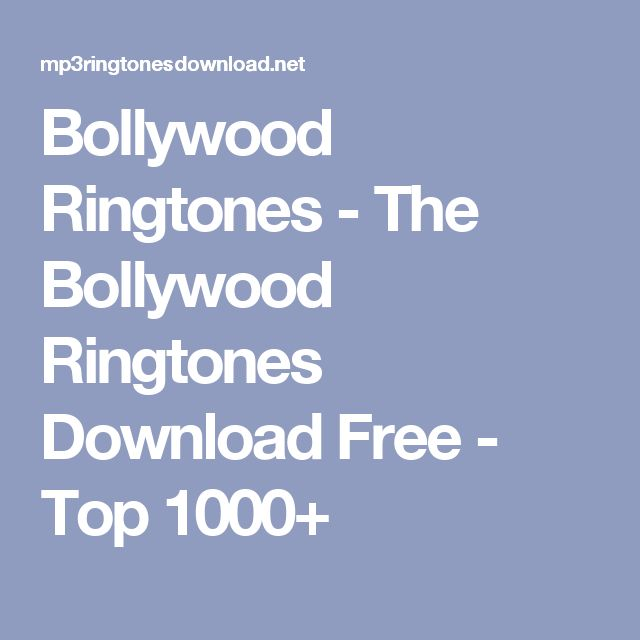 iphone ringtones download bollywood