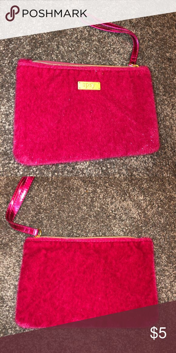 Ipsy Makeup Bag Fuzzy pink makeup bag ipsy Bags Cosmetic