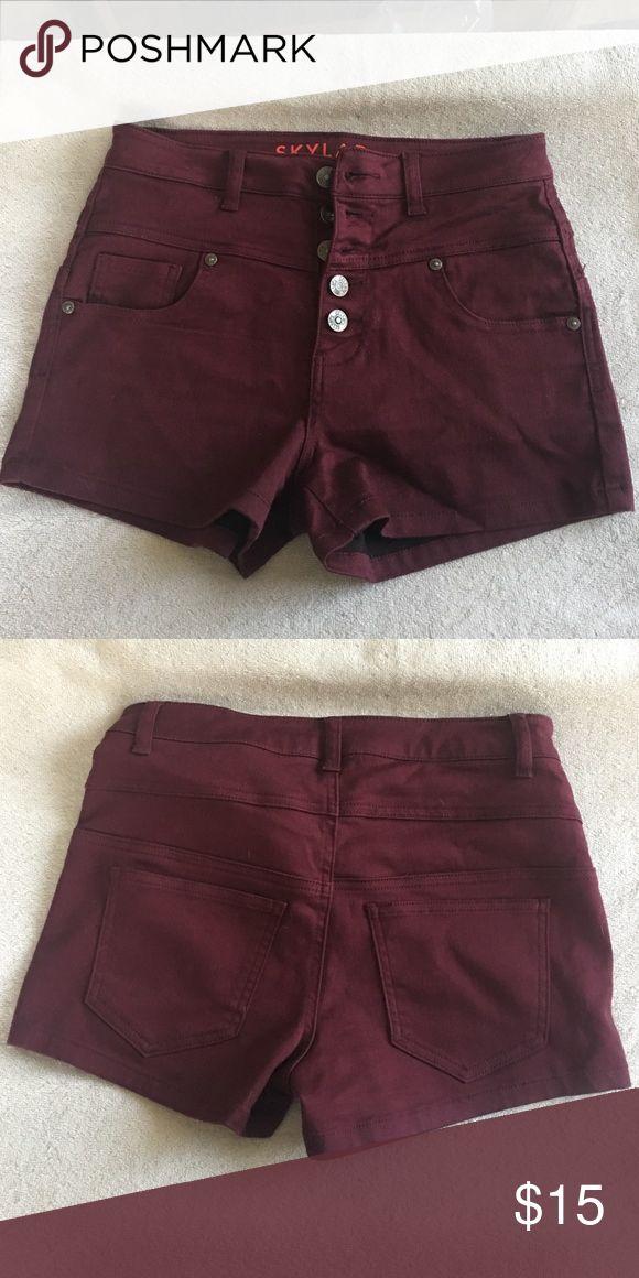 High-waist burgundy shorts Delia's high-waist burgundy shorts worn only once. Delia's sizes tend to run small. Delia's Shorts