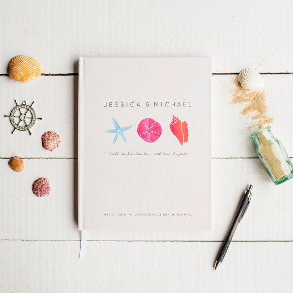 Beach Wedding Guest Book by Starboard Press - perfect for destination weddings. http://starboardpress.etsy.com