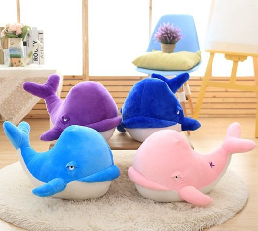 4 pieces a lot small cute plush toy big head dolphin toys stuffed whale doll gift about 25cm //Price: $US $41.58 & FREE Shipping //     #toys