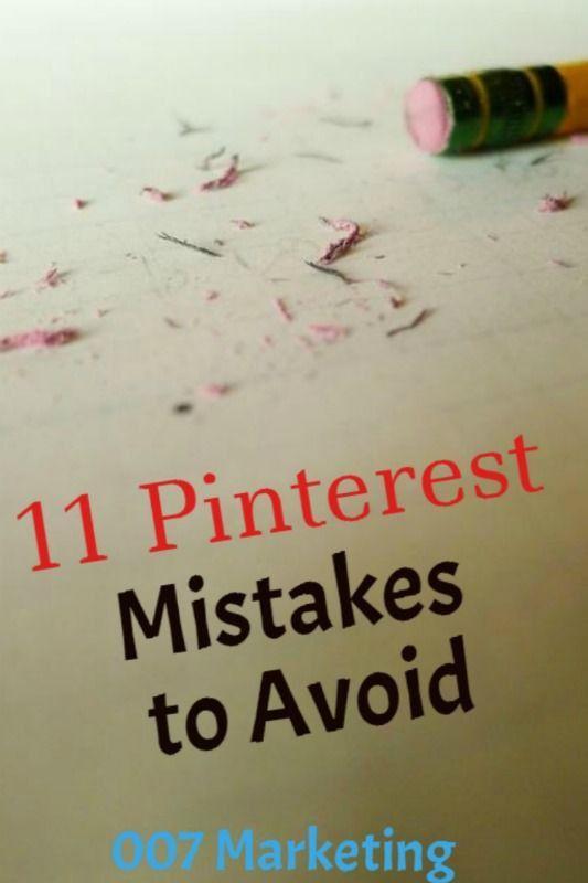 11 #Pinterest Mistakes to Avoid