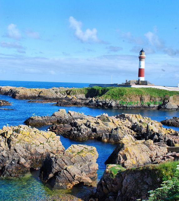 Buchan Ness Lighthouse, Boddam, Peterhead, Aberdeenshire, Scotland