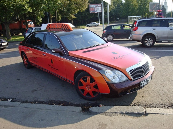 Moscow: There are some crazy cabs in Moscow. This $400,000 Maybach 62 is just one of the wilder rides roaming the streets.