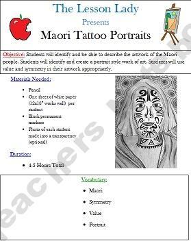 New Zealand Maori Tattoo Portrait Drawing Lesson