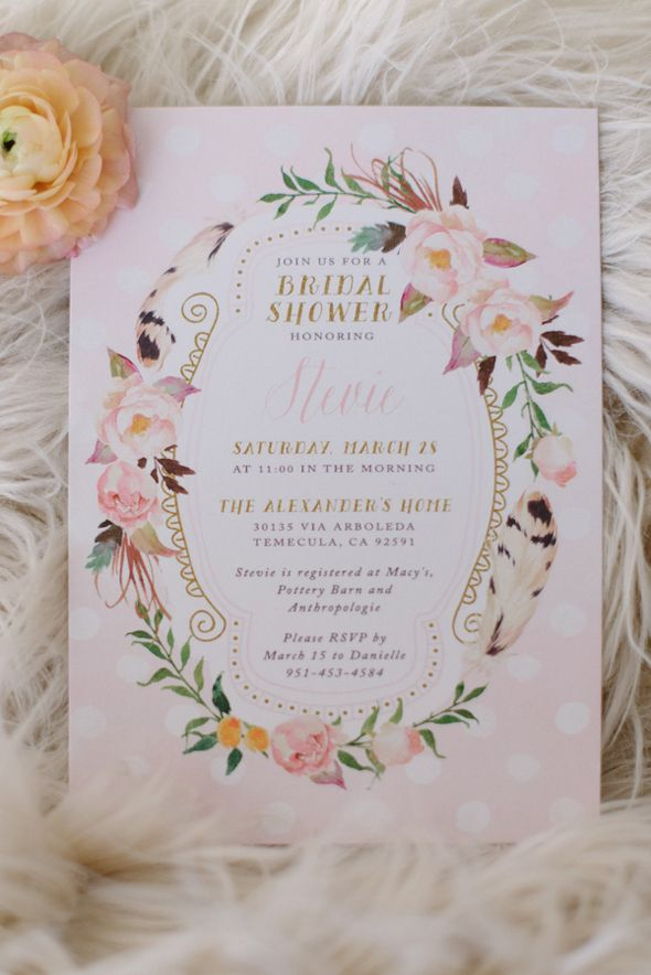 How gorgeous is this invite for this Vintage Chic Bridal Shower - Pretty My Party #vintage #chic #bridalshower