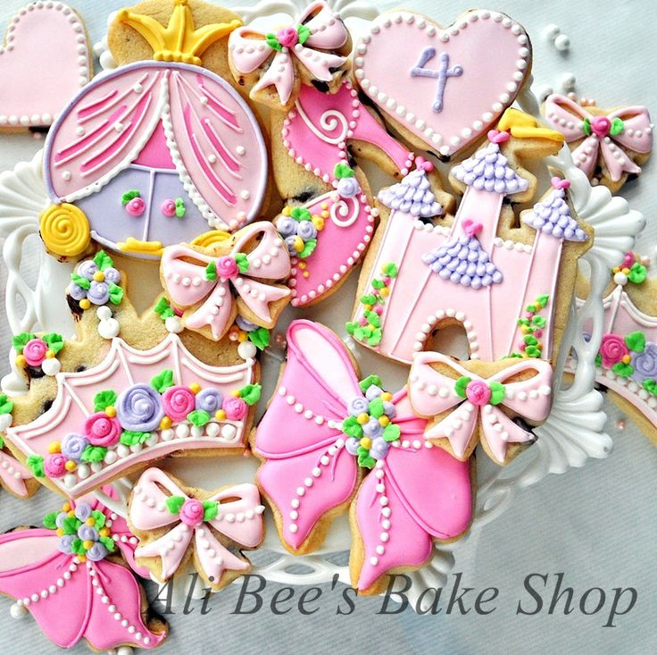 images of ali bee's bake shop cookies | Ali Bee's Bake Shop: Sophie's Pink and Purple Princess Party
